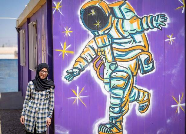Bodoor, refugiada siria, sueña con ser astronauta: Es la forma de escapar de todo lo malo que pasa en la Tierra