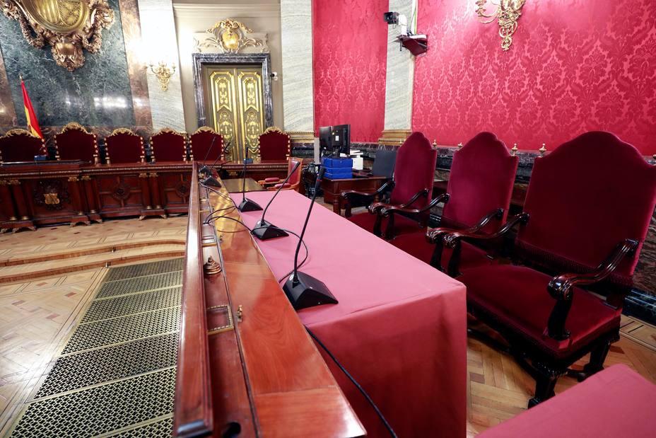 Los presos independentistas ya esperan en el Supremo el inicio del juicio