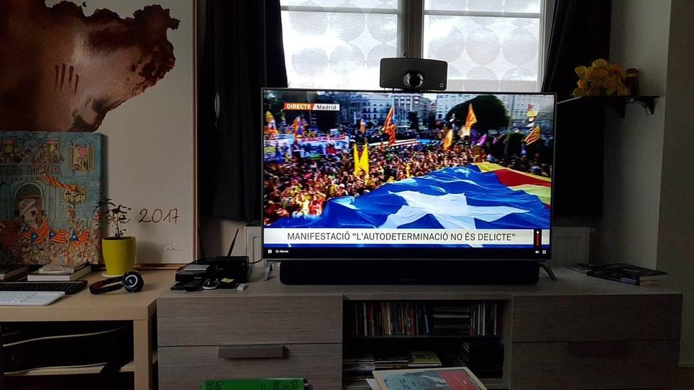Puigdemont destaca el éxito de la manifestación en Madrid que debería mover mentalidades