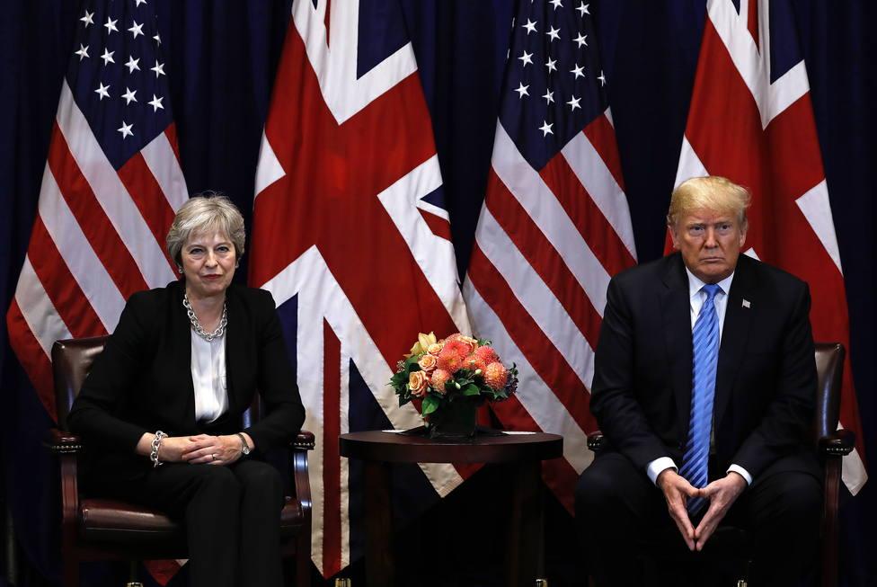 Theresa May y Donald Trump durante la Asamblea General de las Naciones Unidas