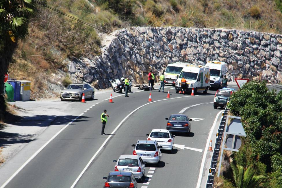 Accidente en Almuñécar