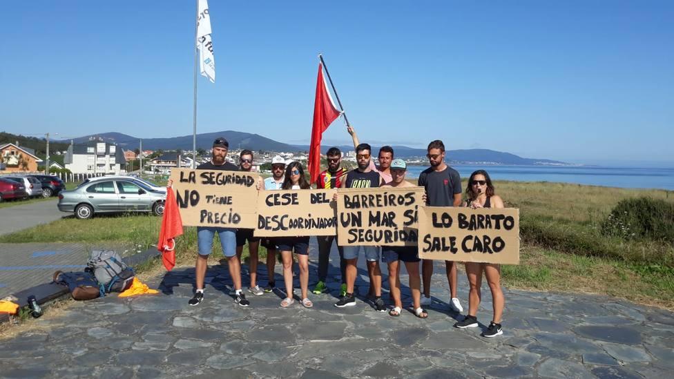 Protesta de los Socorristas de Barreiros