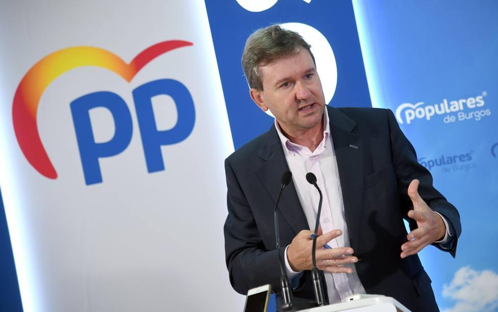 El portavoz de Fomento del Partido Popular en el Senado, el senador burgalés Javier Lacalle
