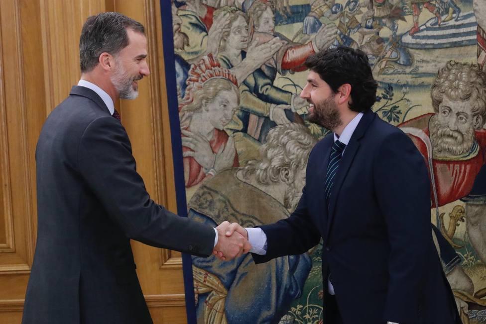 El Rey recibirá este lunes al presidente de la Región de Murcia en el Palacio de la Zarzuela