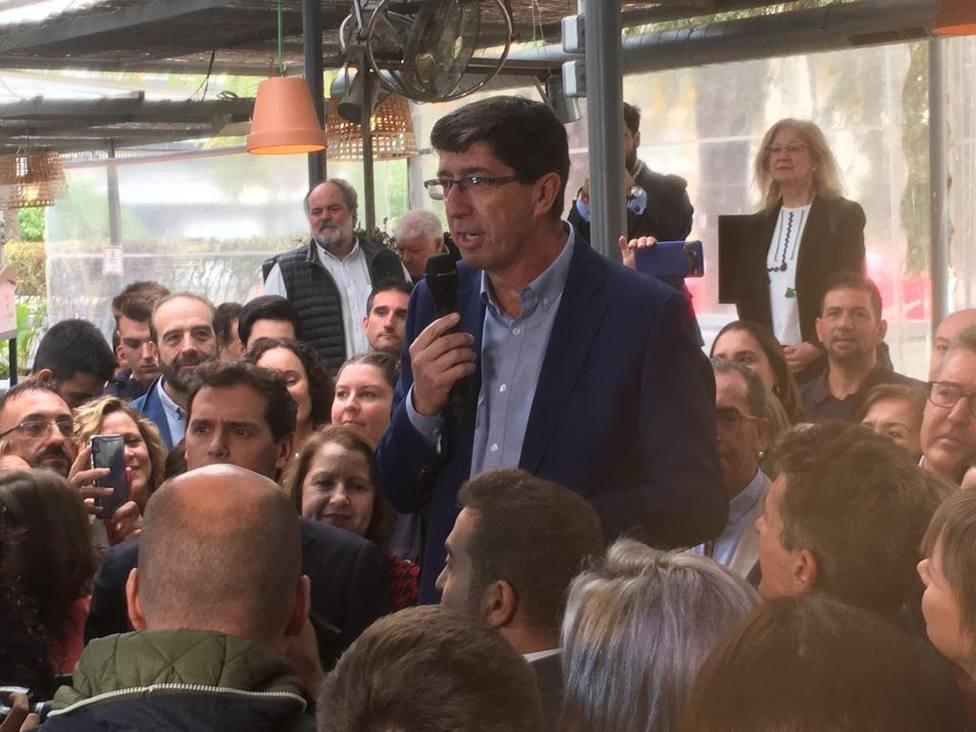 Juan Marín dice que no es democrático el reparto de la Mesa del Congreso, consecuencia del veto del PSOE a Cs
