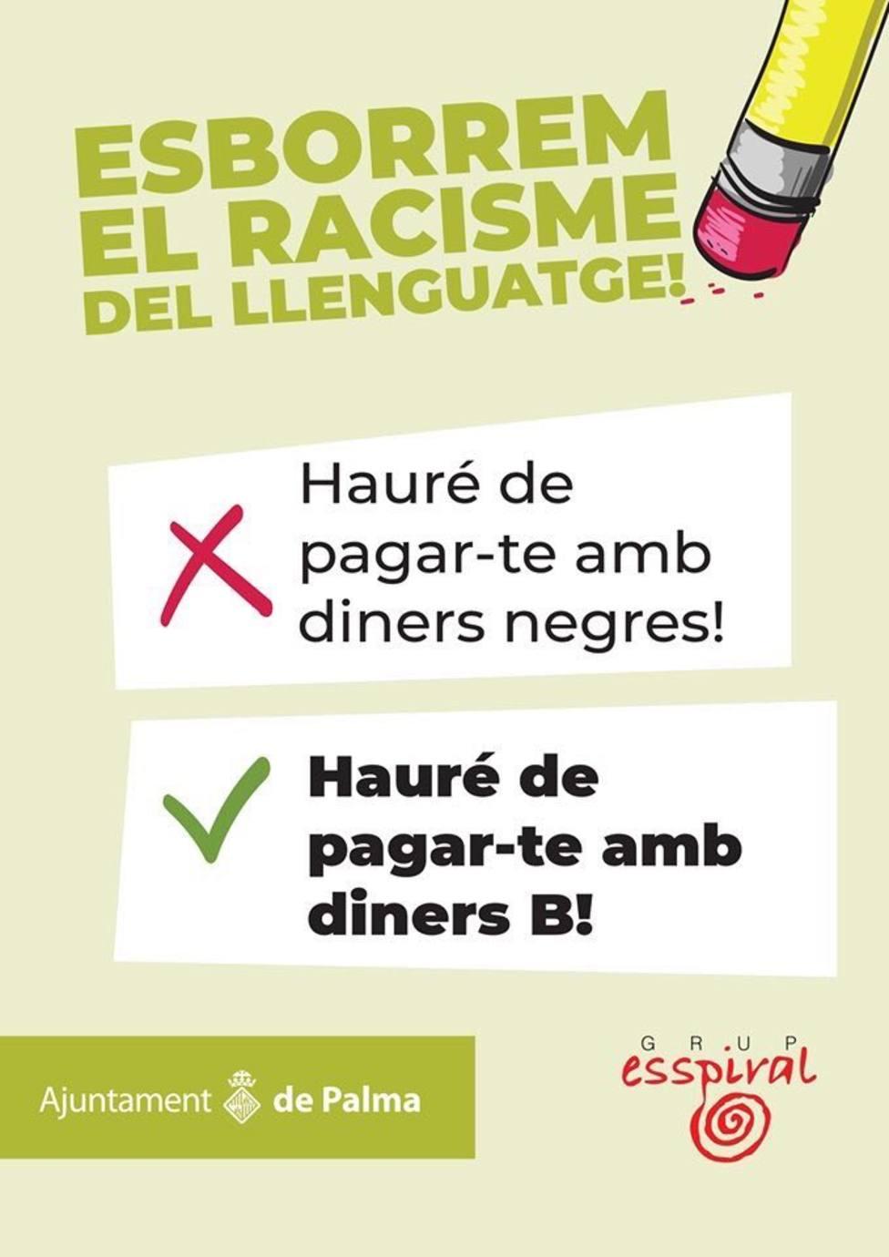 Cort pide el reintegro de la subvención de la campaña Esborrem el racisme del llenguatge