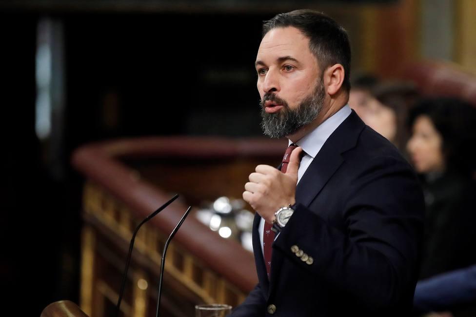 El líder del Vox, Santiago Abascal