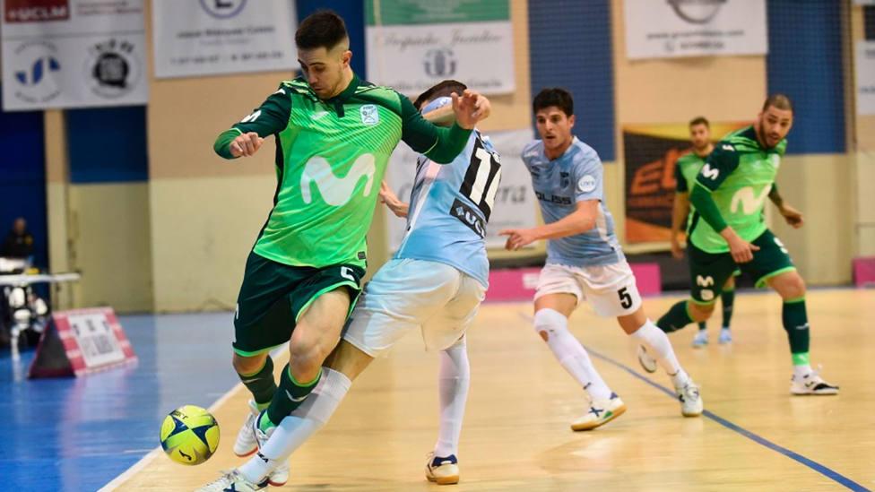 Bebe controla el balón en el partido de Copa del Rey ante Movistar Inter (@Intermovistar)