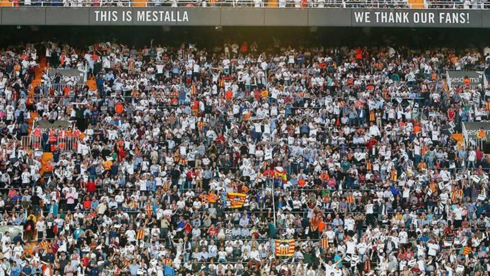 La afición del Valencia CF, siempre con su equipo