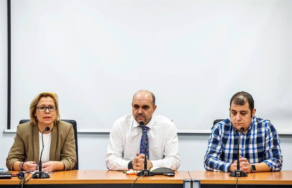 Los presidentes de los hosteleros Nuria Leal, Fernando de la Varga y José Rey