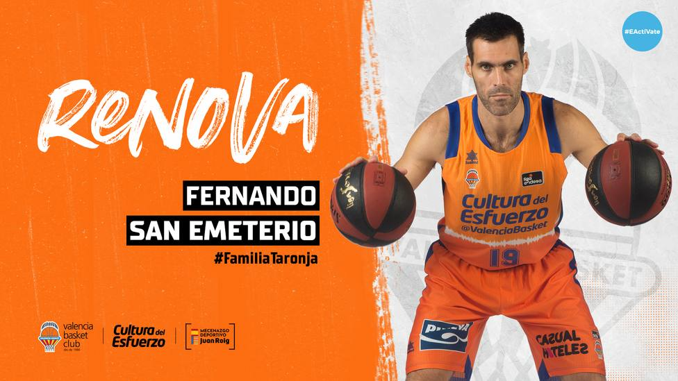 Fernando San Emeterio renueva con el Valencia Basket