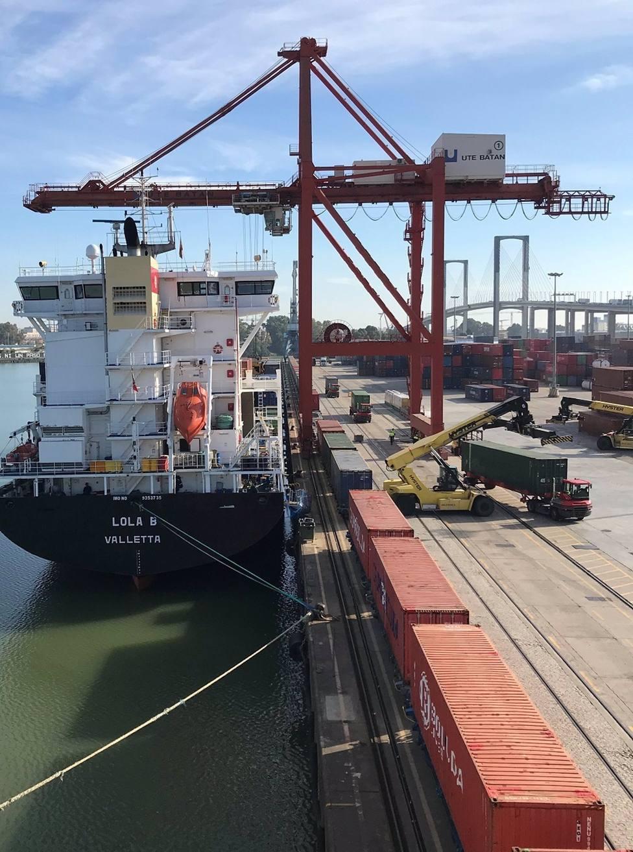 Sevilla.-Puertos.- Primer paso del traslado de la actividad portuaria al sur con una terminal en la Dársena del Cuarto