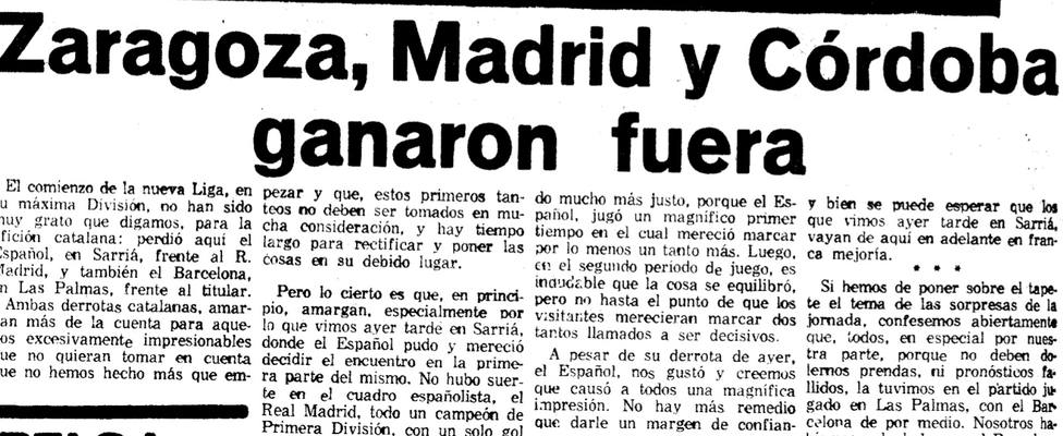El día que el Córdoba C.F. fue líder en Primera