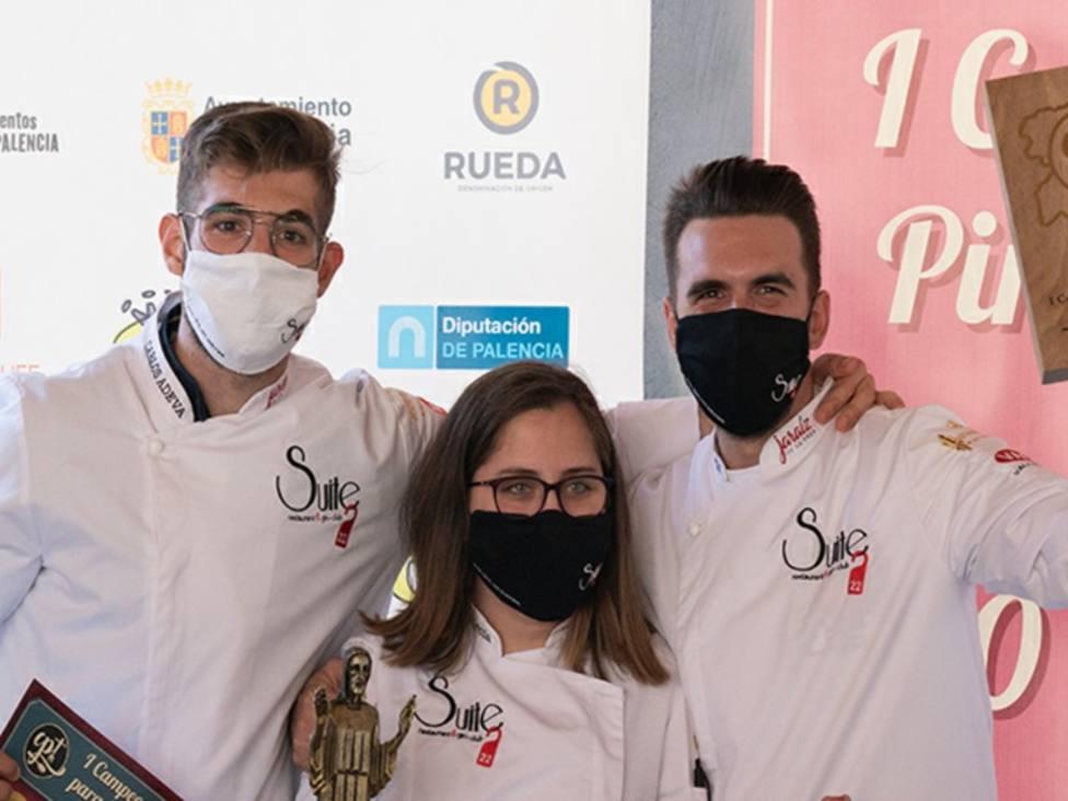 Los cocineros que triunfaron en el Campeonato Regional en Palenciaganan el Nacional de Pinchos y el Mundial