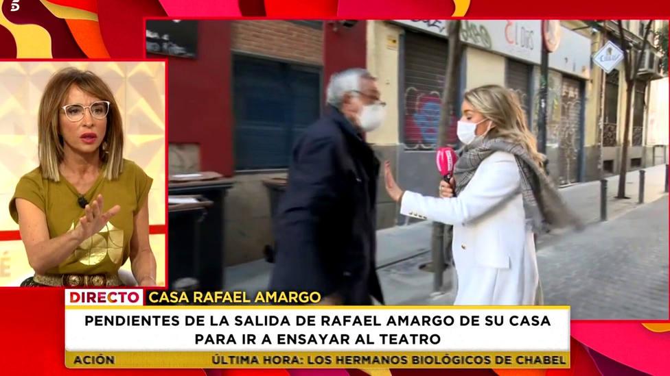 El padre de Rafael Amargo pierde los nervios y intenta agredir a una reportera de Socialité: ¿A qué te pego?