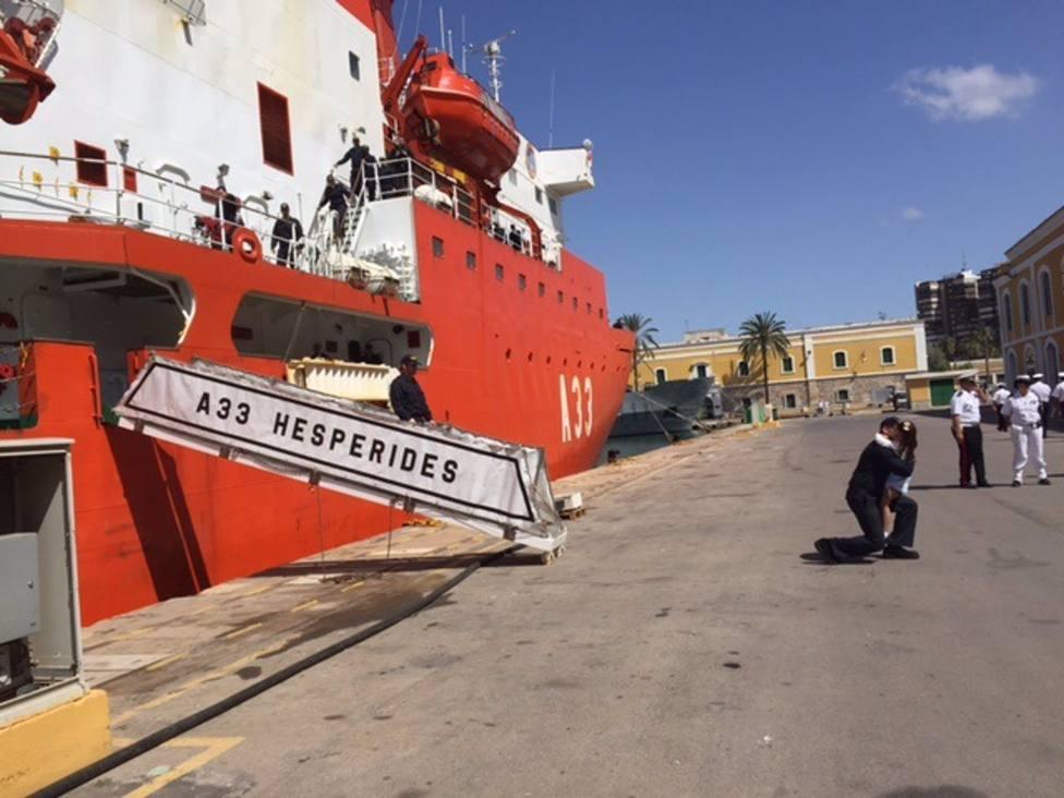 Coronavirus.- El buque Hespérides permanece en el Puerto de Las Palmas tras el brote de Covid-19 detectado a bordo