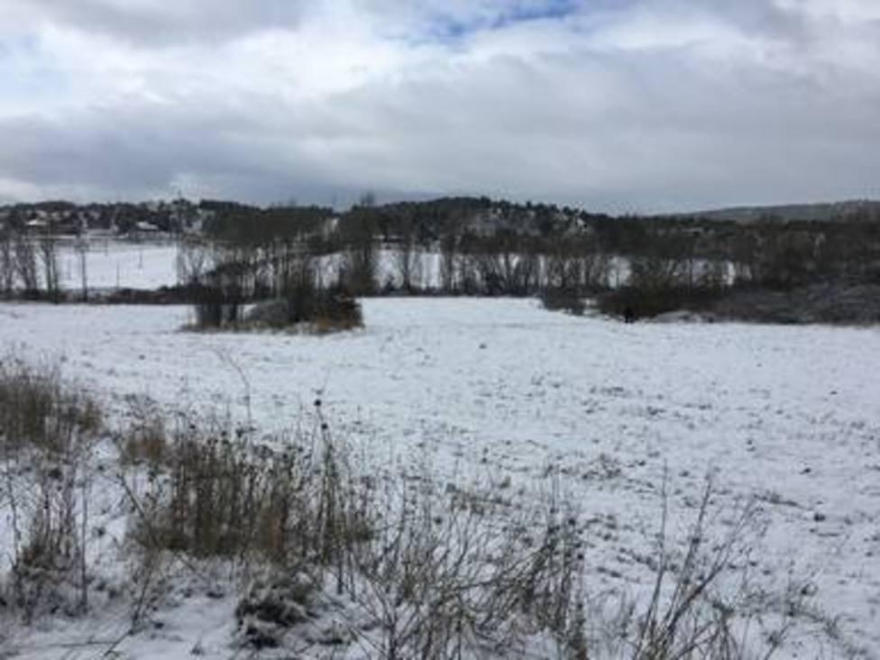 hielo en el campo