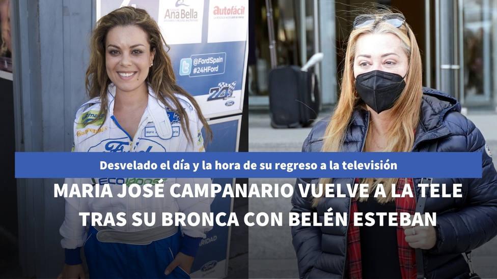 Revelado el día que Maria José Campanario reaparecerá en televisión tras su última polémica con Belén Esteban