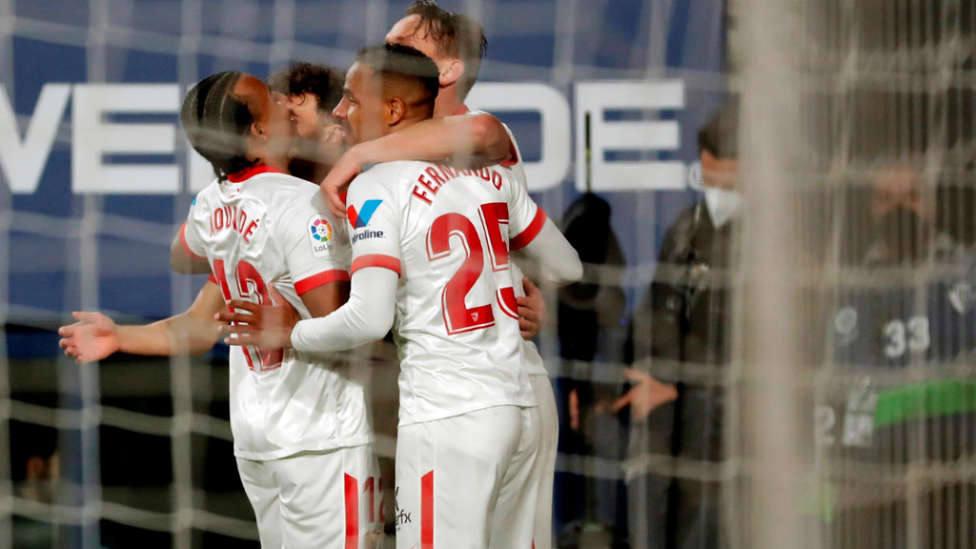 Celebración de uno de los goles