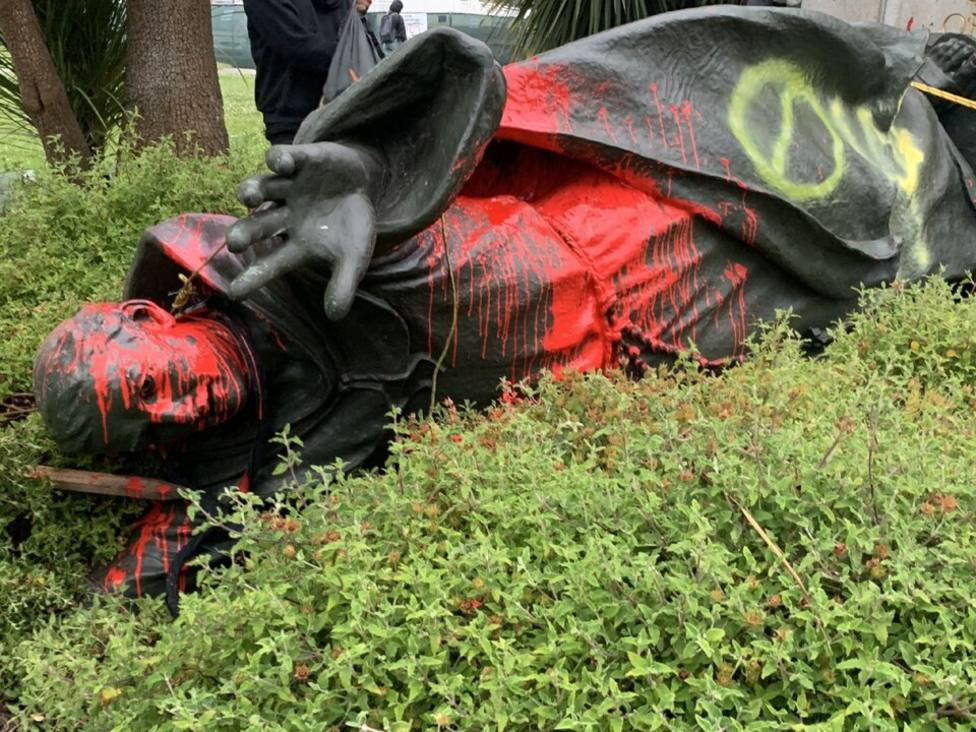 El Arzobispo de San Francisco, a favor de procesar a quienes derribaron la estatua de Junípero Serra