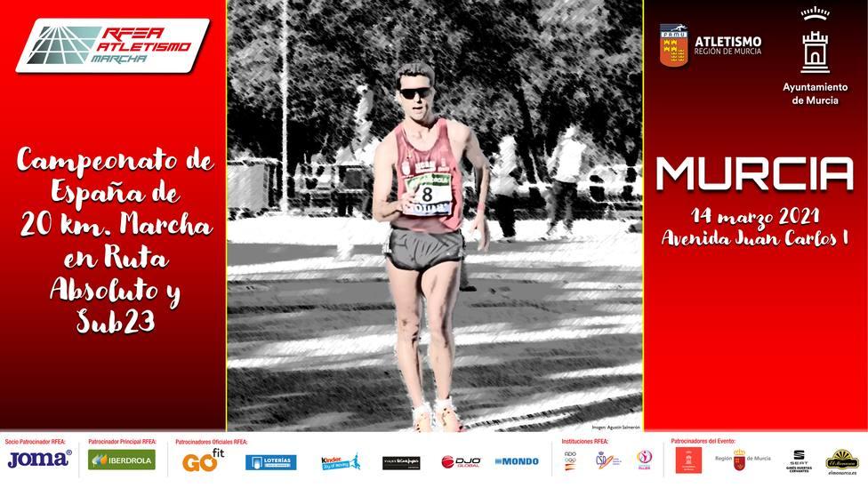 Murcia acogerá el campeonato de España de marcha el próximo 14 de marzo
