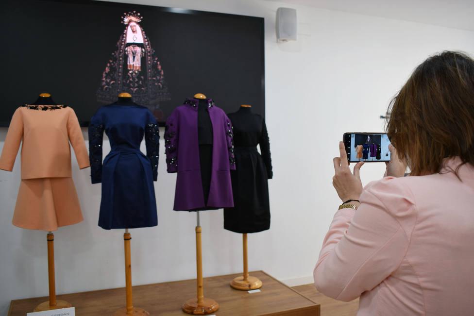 La Virgen de la Soledad de Almería, fuente de inspiración en la exposición de moda de Daniel Cerdán