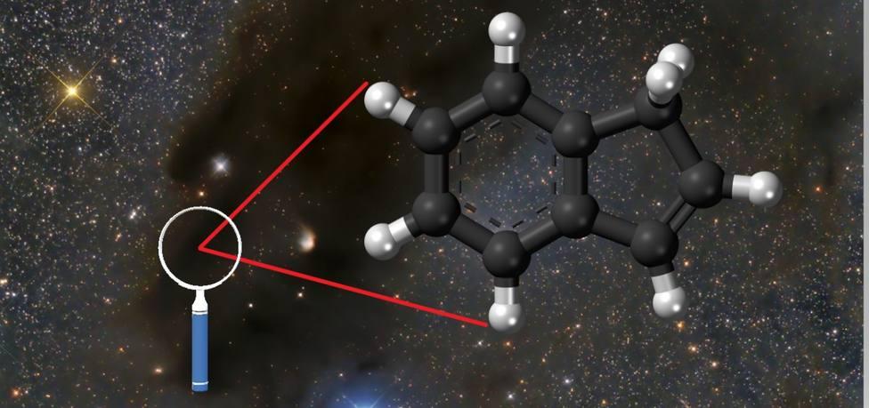 Imagen de la nube de Heiles 2, que forma parte de la nube molecular de Tauro lugar del hallazgo