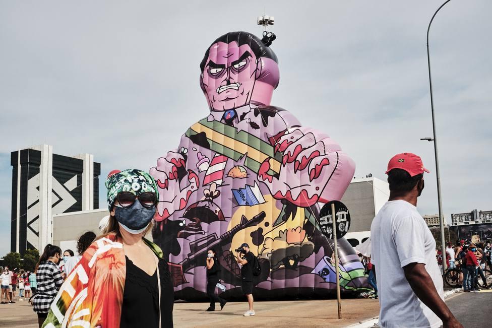 Manifestación contra el presidente brasileño, Jair Bolsonaro