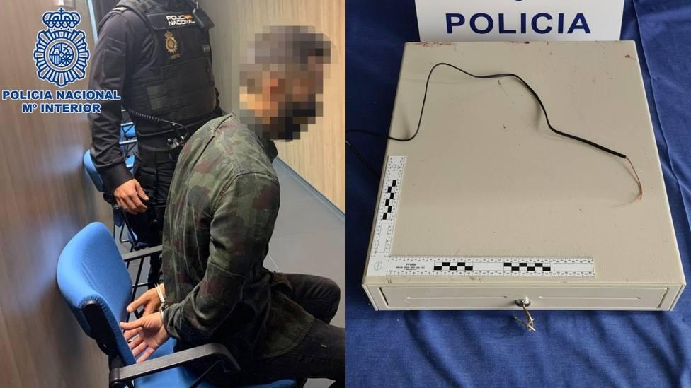 Un joven sorprendido con la caja registradora tras robar en un establecimiento de Logroño