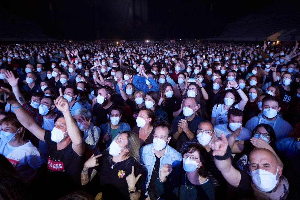 El Wanda Metropolitano, la prueba de fuego para los eventos masivos y sus antecedentes en pandemia en España