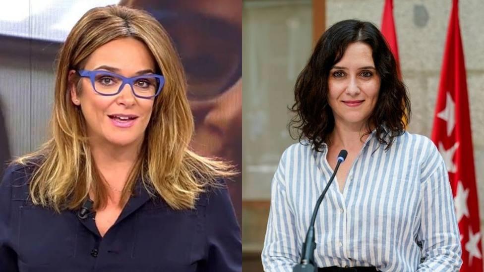 Toñi Moreno responde a Díaz Ayuso y opina sobre la presidenta madrileña: No se lo piense