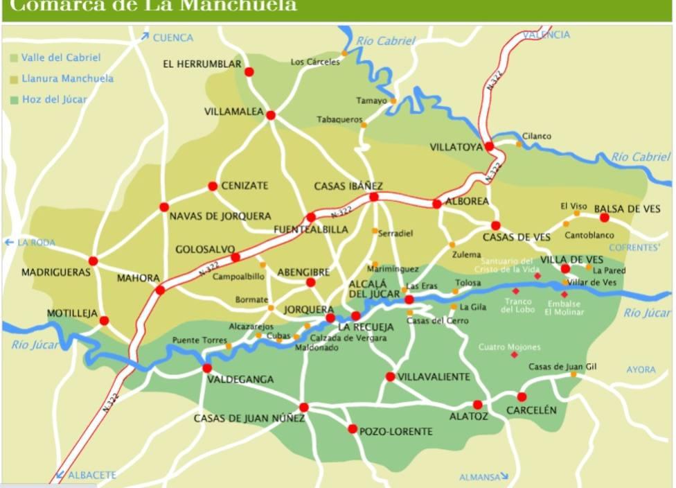 Mapa de La Manchuela