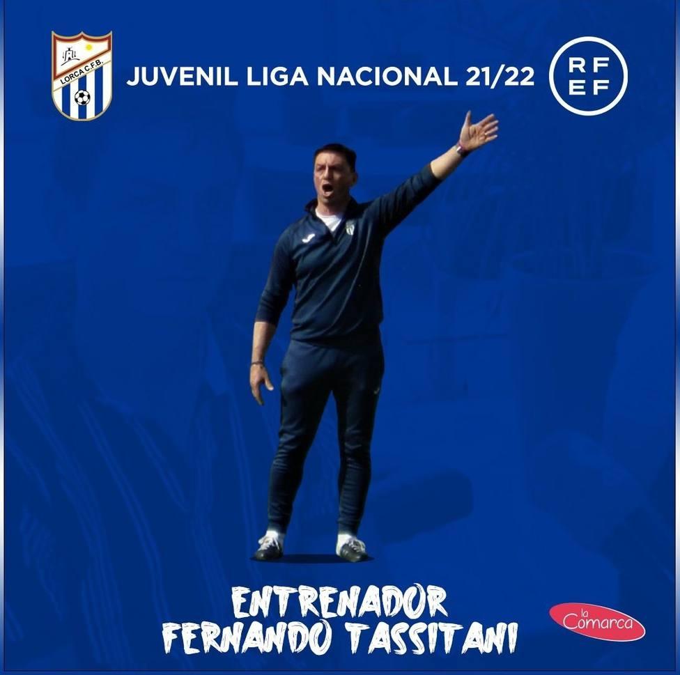 Fernando Tassitani será el entrenador del Lorca CF Base Juvenil Nacional