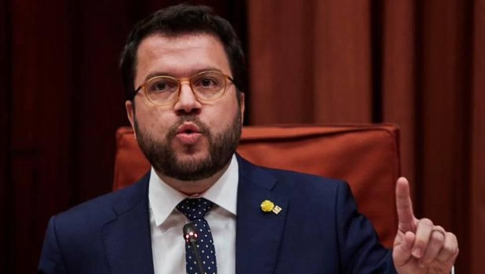 El presidente de la Generalitat Pere Aragonès