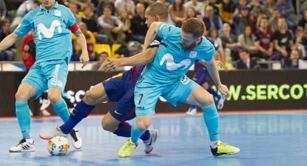 Barcelona Lassa y Movistar Inter empataron 3-3 en el Palau Blaugrana (FOTO: LNFS)