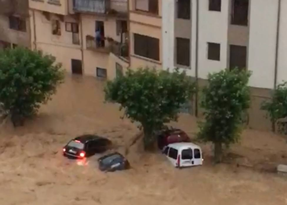 Graves inundaciones en Tafalla