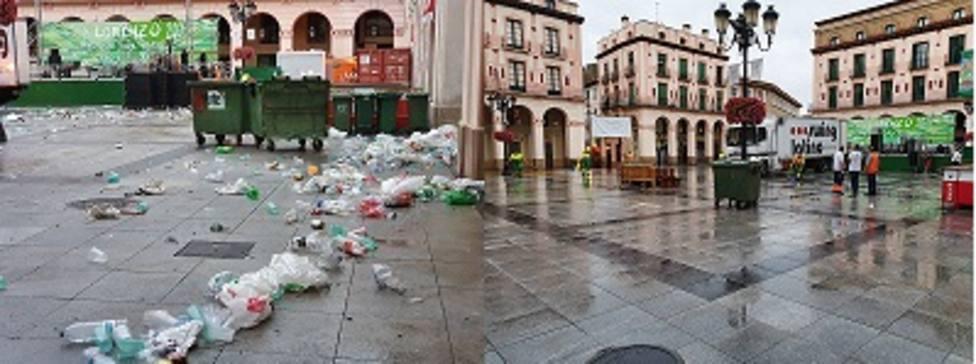 Limpieza en San Lorenzo