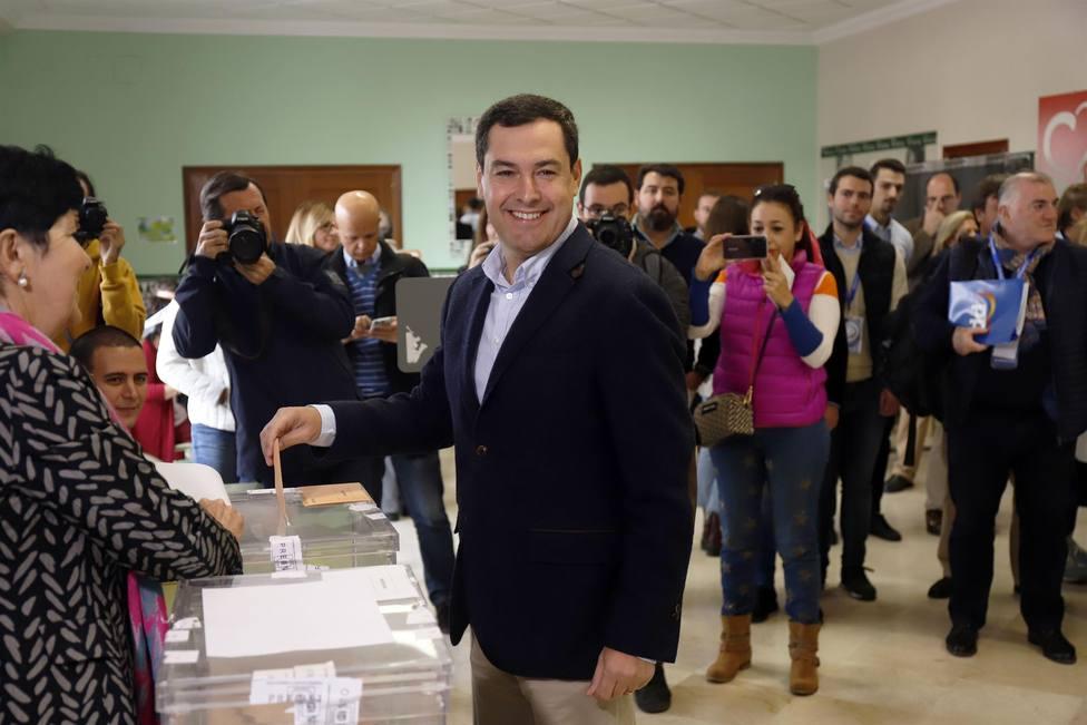 Juan Moreno votando en Málaga
