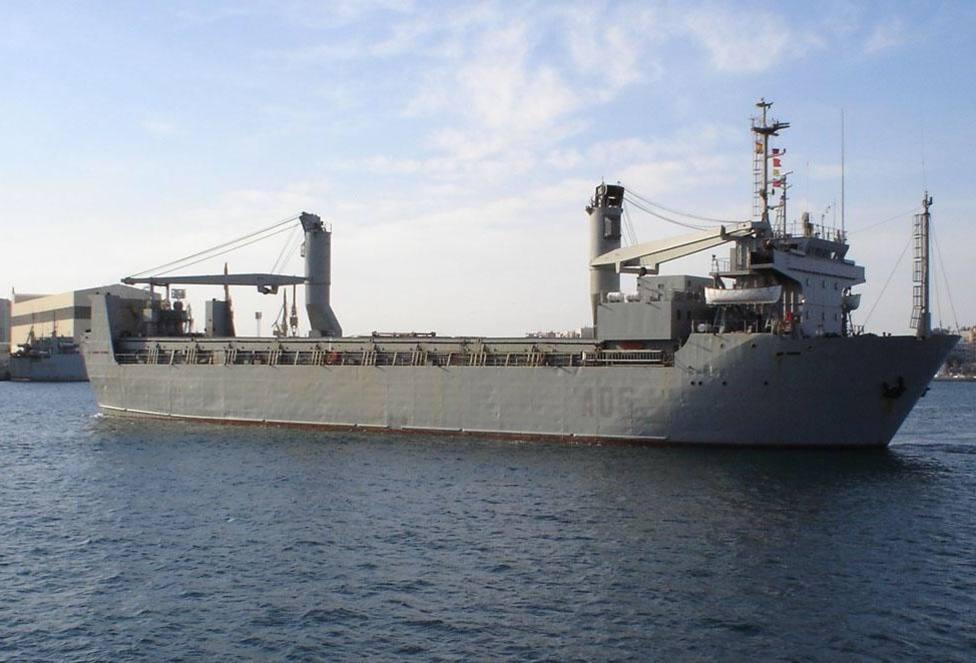 El buque de transporte ligero Camino de España causa baja en la Armada