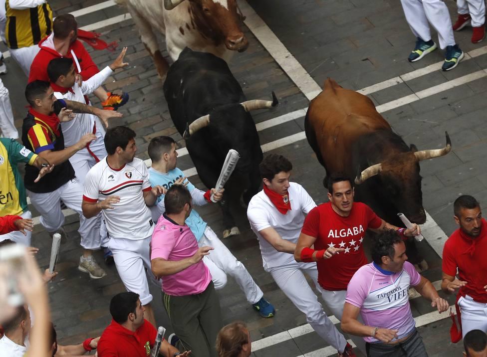 Encierro de San fermín de 2019 con toros de La Palmosilla