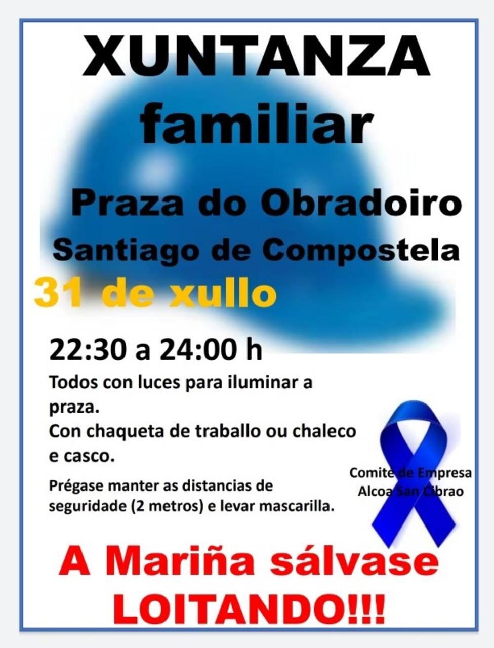 Cartel del nuevo acto reivindicativo en Santiago de Compostela