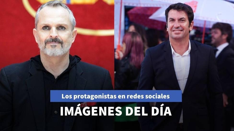 Imágenes del día: Miguel Bosé la lía en redes sociales y Arturo Valls sorprende con una reflexión