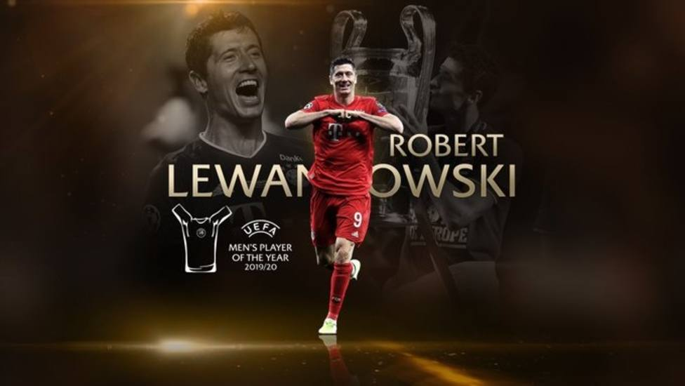 Lewandowski, elegido mejor jugador del año en la Champions