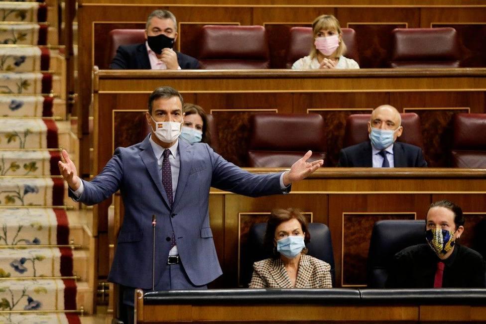 Pedro Sánchez responde a Pablo Casado en la sesión de control al Gobierno en el Congreso
