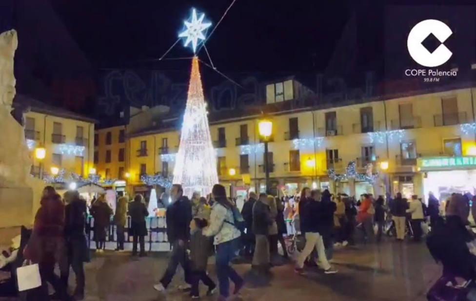 Plaza Mayor de Palencia en Navidad