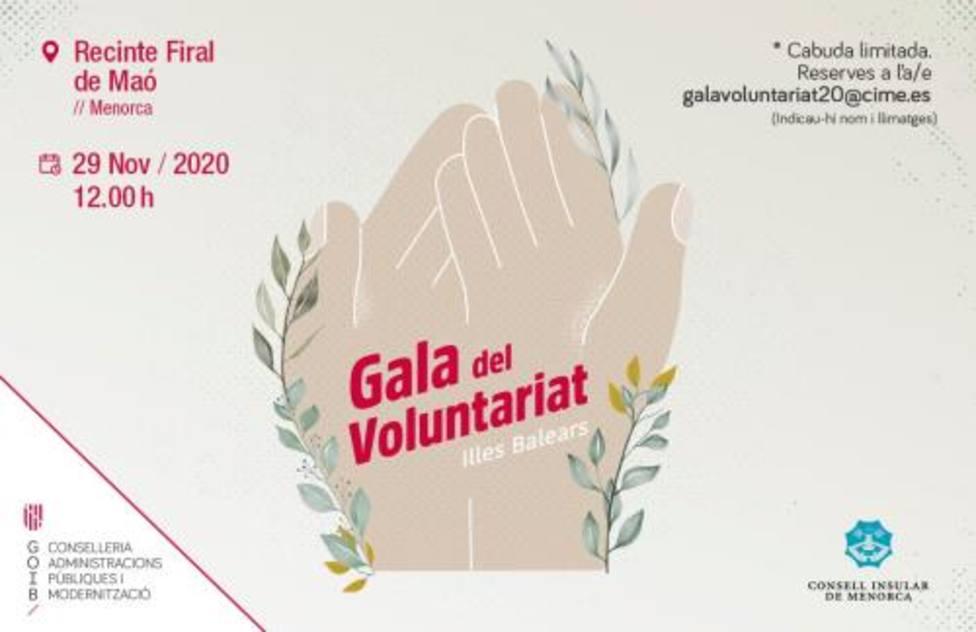 Menorca acoge este domingo la gala de los Premios Voluntariado IB 2020