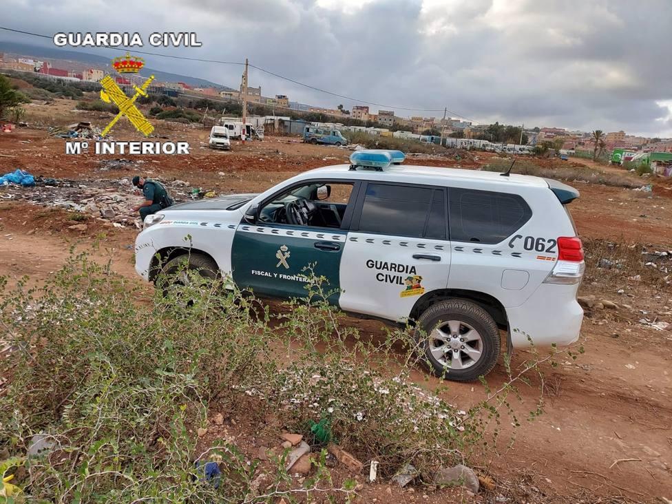 Detenidas siete personas en Melilla que recogían droga lanzada desde Marruecos