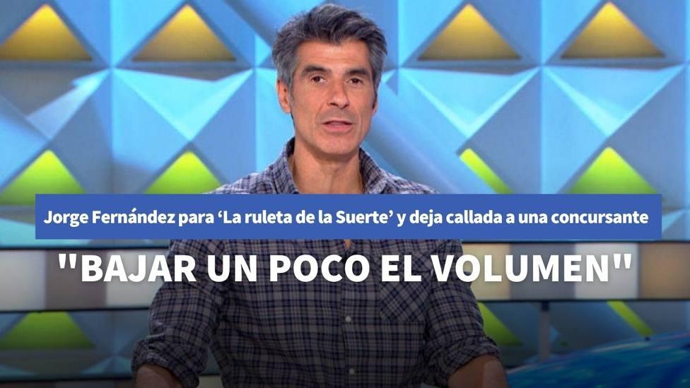 Jorge Fernández para 'La ruleta de la Suerte' y deja callada a una concursante por su actitud