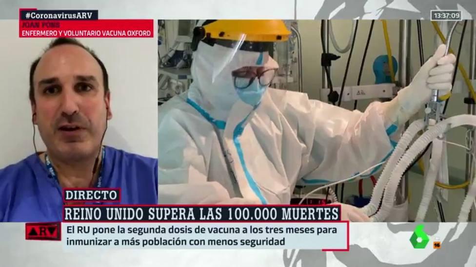 Un enfermero avisa desde Reino Unido del único futuro de la cepa británica en España: Tenemos que decidir
