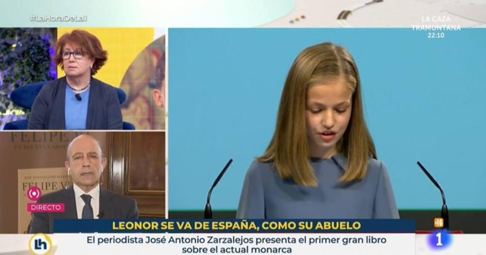 El polémico rótulo de TVE: Leonor se va de España, como su abuelo